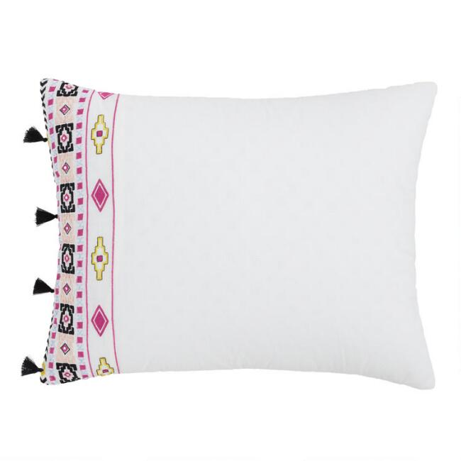 Multicolor Geo Embroidered Anisa Pillow Shams Set of 2