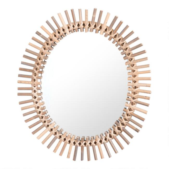 Natural Rattan Sunburst Mirror