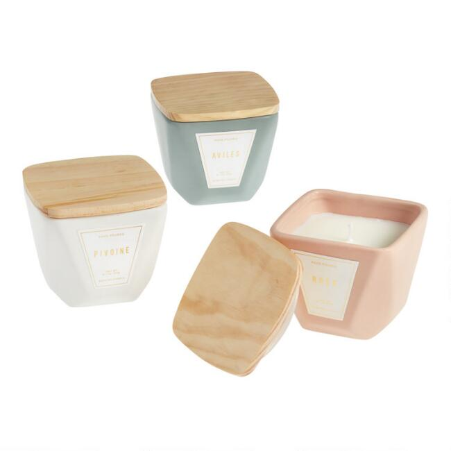 Faceted Ceramic Filled Jar Candle Collection