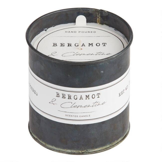 Bergamot and Clementine Antique Oil Tin Filled Candle
