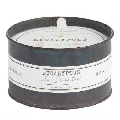 Eucalyptus & Santal Antique Oil Tin Scented Candle
