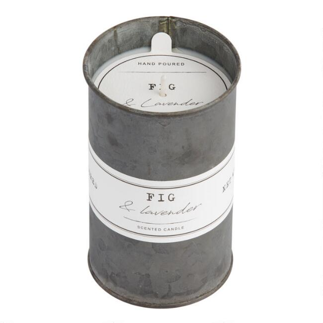 Lavender and Fig Antique Oil Tin Filled Candle