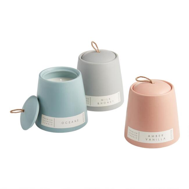 Modern Ceramic Filled Jar Candle Collection