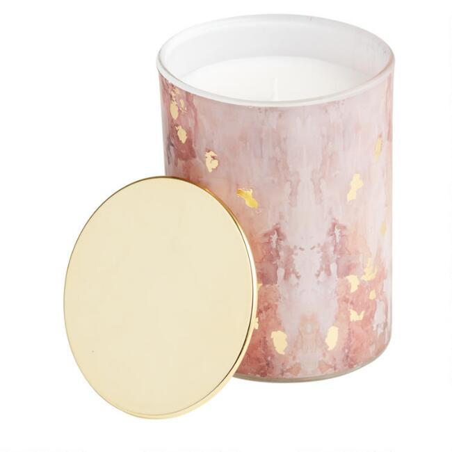 Onyx Art Deco Gold Filled Jar Candle