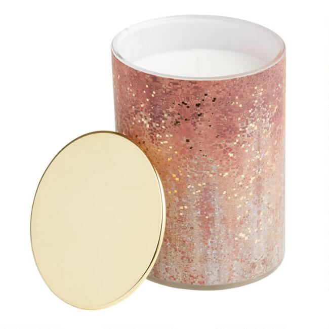 Vanilla Woods Art Deco Gold Filled Jar Candle