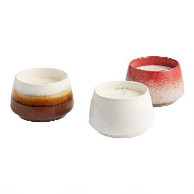 Reactive Glaze Soy Wax Filled Jar Candle Collection