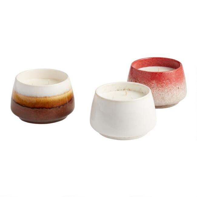 Reactive Glaze Soy Wax Scented Candle Collection