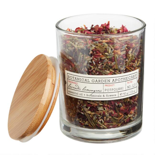 Botanical Garden Lavender and Lemongrass Potpourri Jar