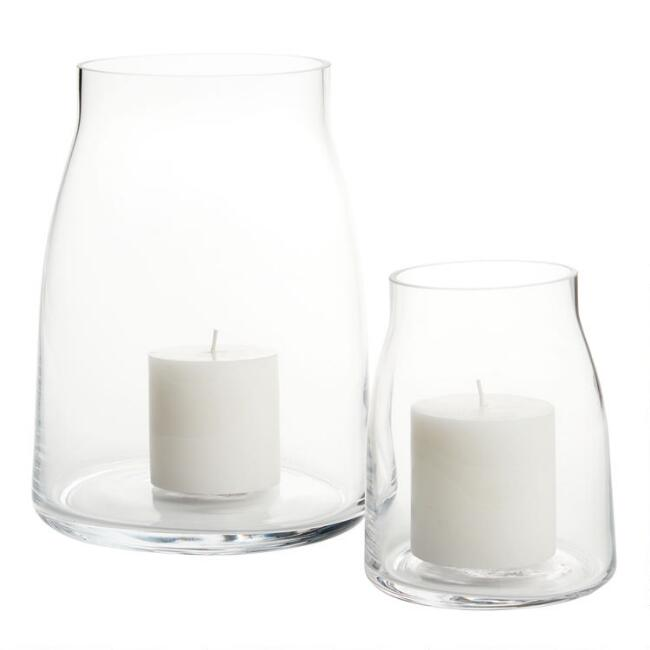 Clear Glass Marlow Hurricane Candleholder