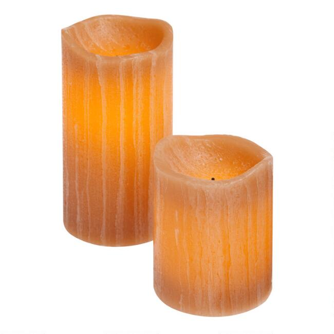 Honey Rustic Flameless LED Pillar Candle