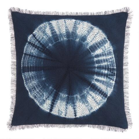 Indigo Blue Shibori Sunburst Throw Pillow on flag out, ops out, letter out, print out, school's out, drawing out,