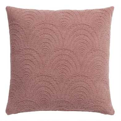 Rose Fan Jacquard Throw Pillow