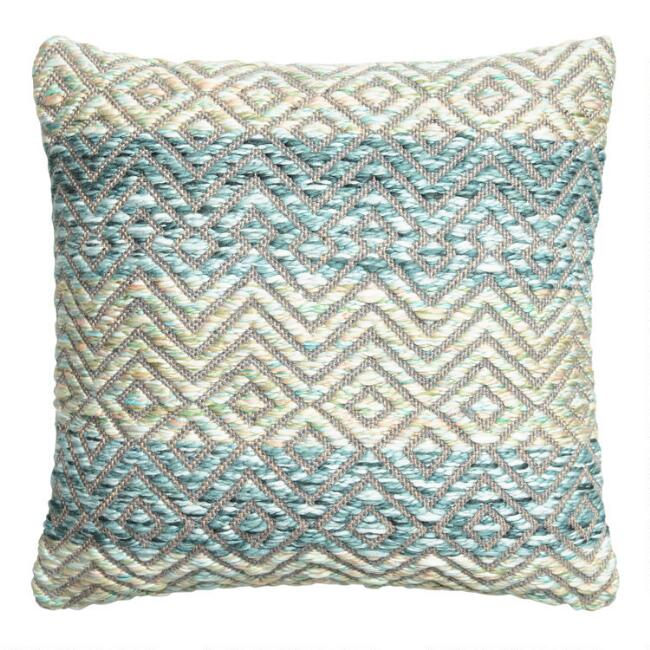 Cool Chunky Yarn Woven Throw Pillow