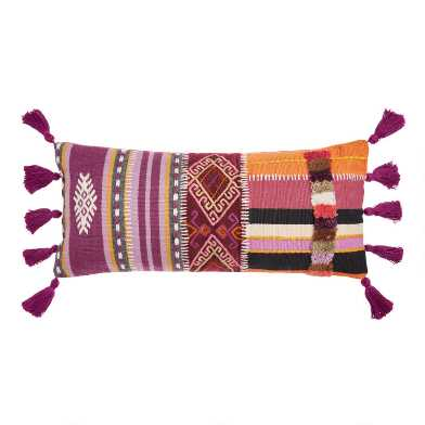 Oversized Multicolor Patchwork Cadence Lumbar Pillow