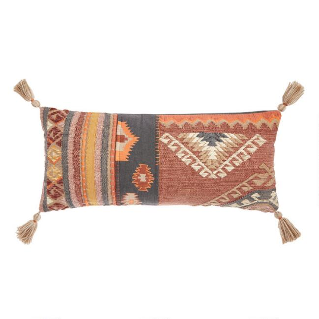 Oversized Kilim Rug Indoor Outdoor Claudine Lumbar Pillow