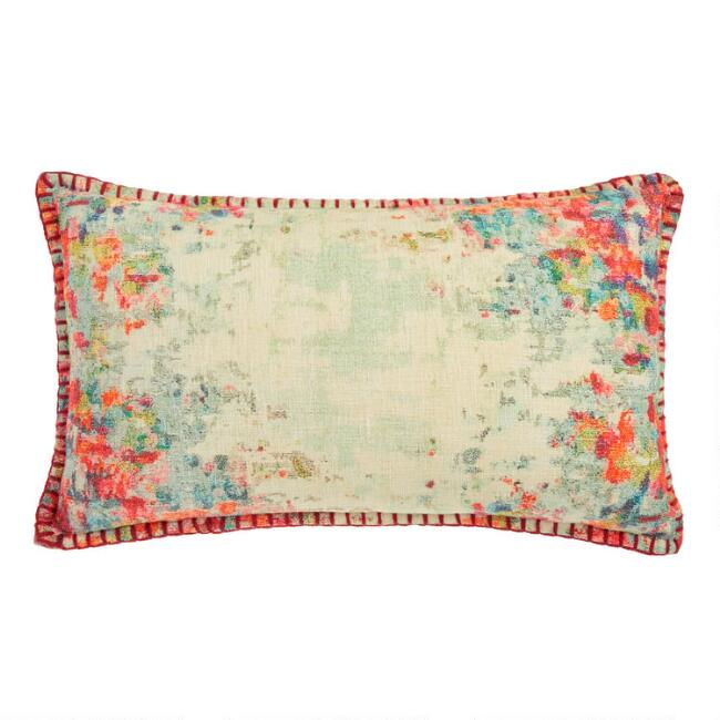 Abstract Art Print Lumbar Pillow
