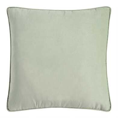 Jadeite Velvet Gusseted Throw Pillow