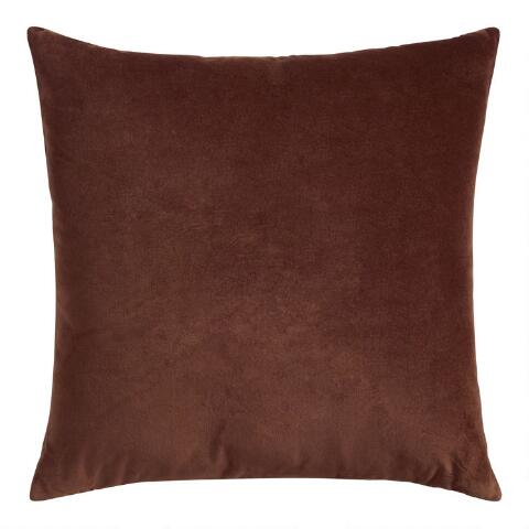 Chocolate Velvet Throw Pillow
