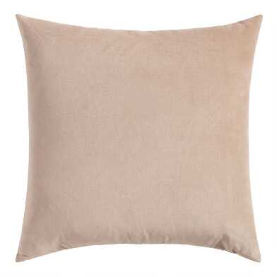 Tan Velvet Throw Pillow