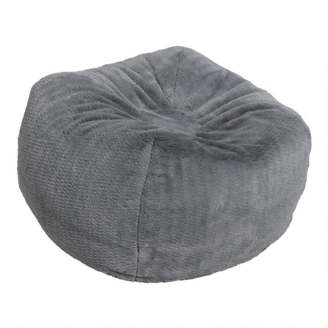 Gray Patterned Bean Bag Chair
