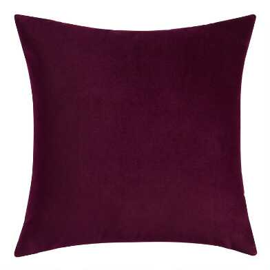 Purple Velvet Throw Pillow
