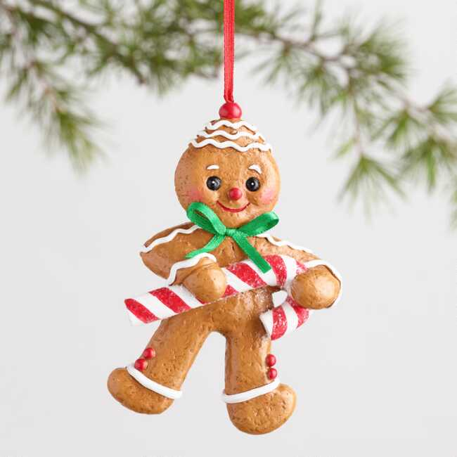 c888154bbbaf Paper Pulp Gingerbread Man Ornament