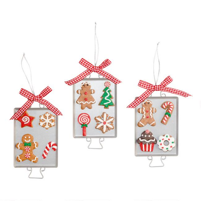 Christmas Cookie Sheet Ornaments Set of 3