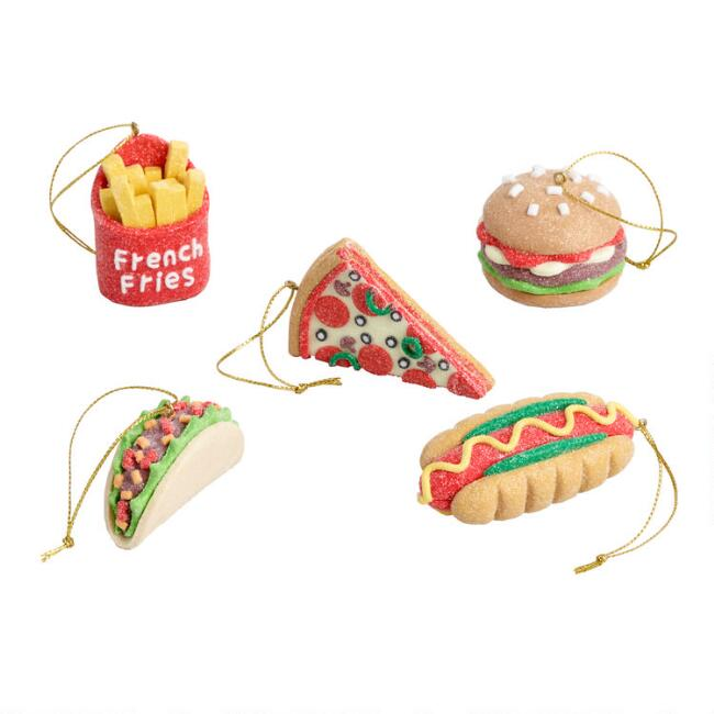 Clay Fast Food Ornaments Set of 5