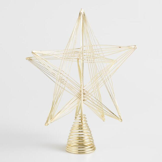 Gold Wires Star Tree Topper