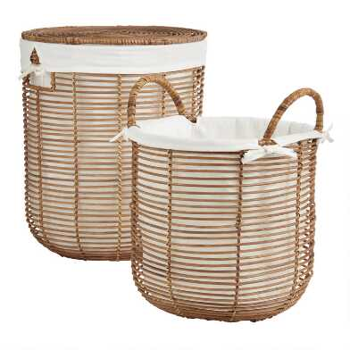 Natural Rattan Hayley Basket Collection