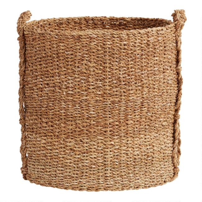 Tan Seagrass Josie Tote Basket