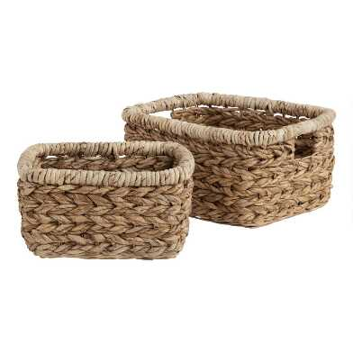 Braided Banana Leaf Kenzie Utility Basket