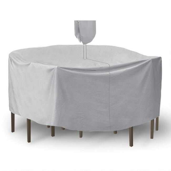 Round Table Set Outdoor Cover with Umbrella Hole