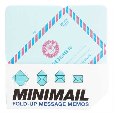Minimail Fold Up Message Memo Notepad