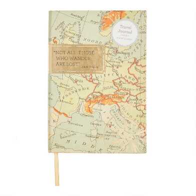 Go Your Own Way Map Hardcover Journal