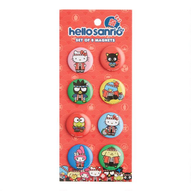 Hello Kitty Omatsuri Magnets Set of 8
