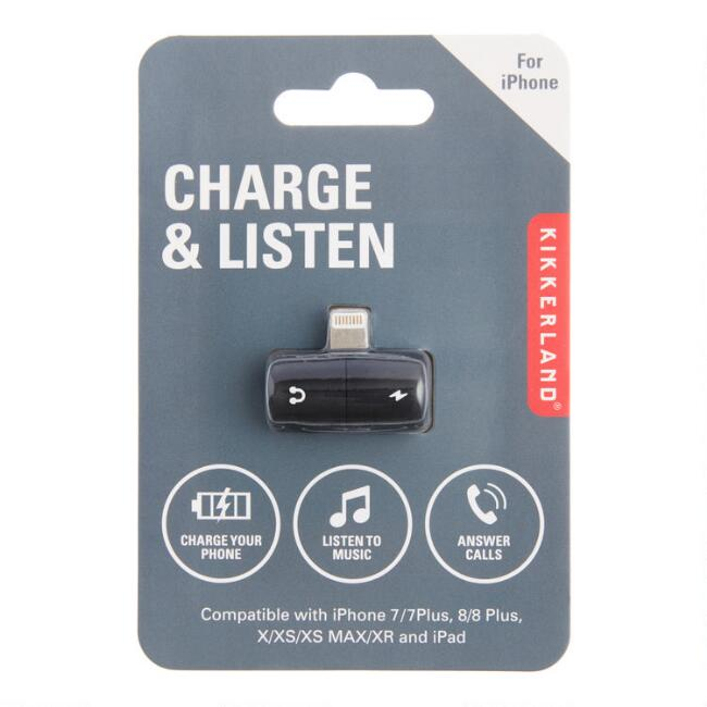 Kikkerland 2 in 1 iPhone Charger and Headphone Port