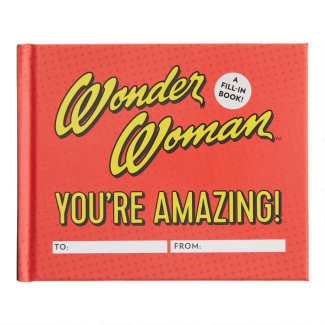 Wonder Woman You're Amazing Fill In The Blank Book