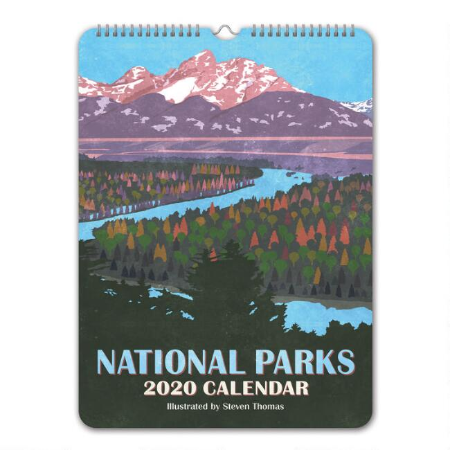 Retro Illustrated National Parks 2020 Wall Calendar