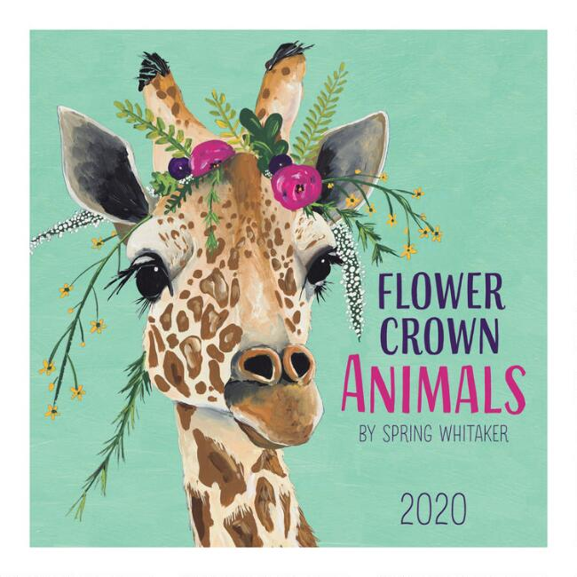 Flower Crown Animals 2020 Wall Calendar
