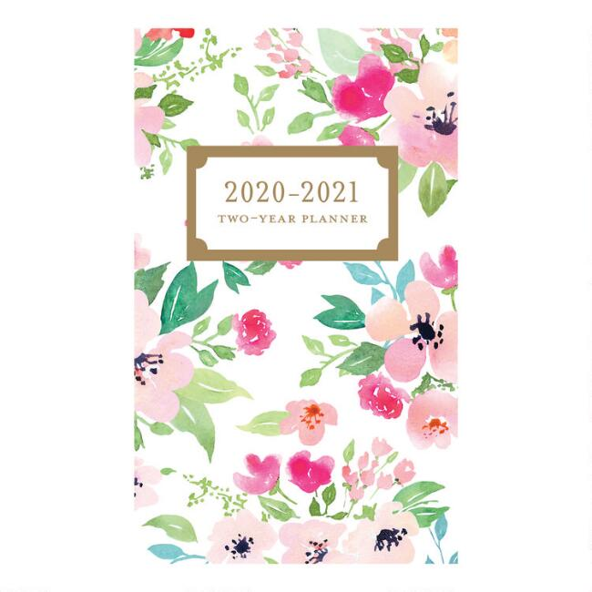 Watercolor Floral 2020-2021 Pocket Planner