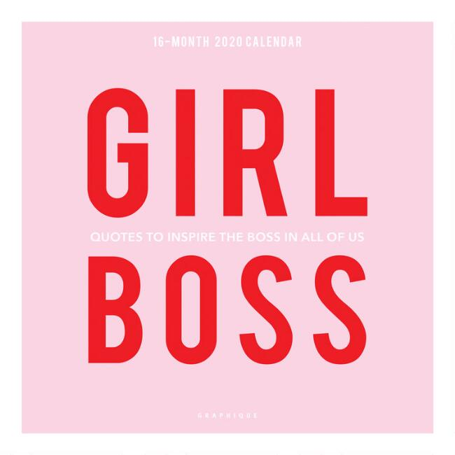Girl Boss 2020 Wall Calendar