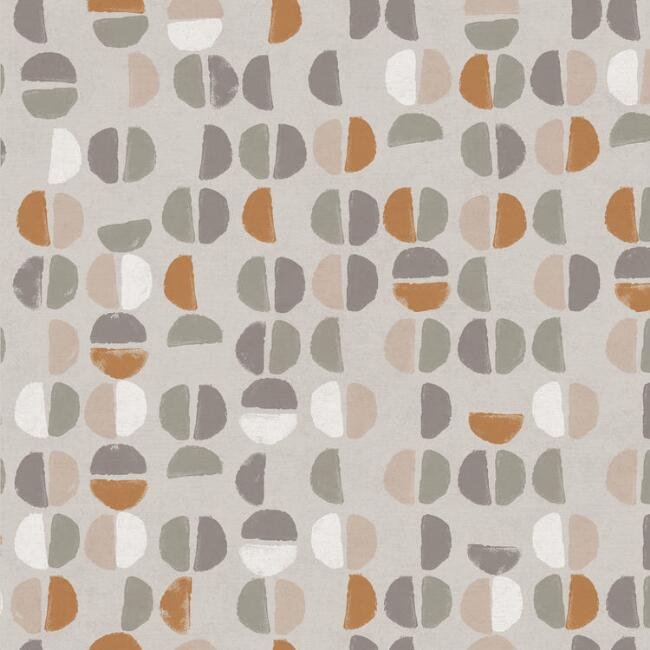 Gray & Rust Abstract Coffee Bean Peel And Stick Wallpaper