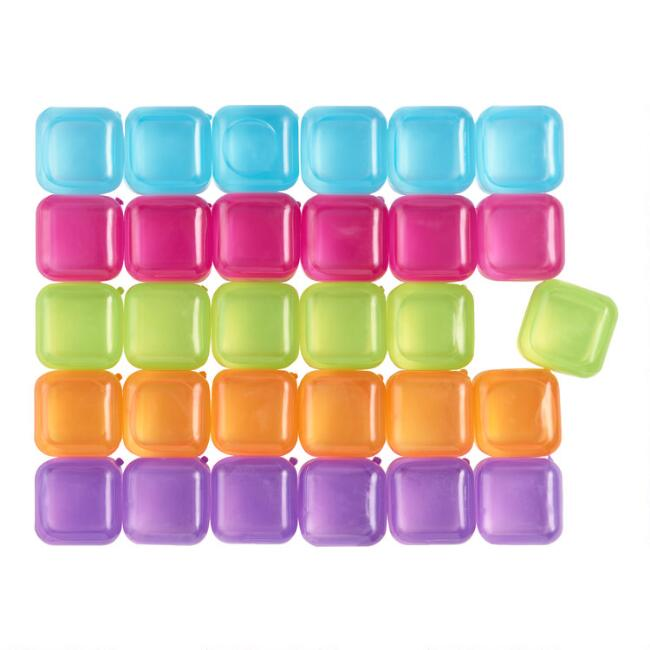 Kikkerland Multicolor Reusable Ice Cubes 30 Count