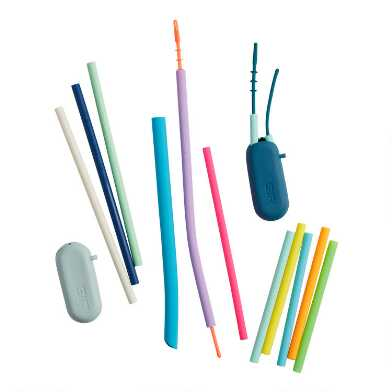 Reusable Silicone Straw Collection