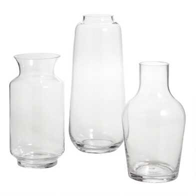 Clear Glass Contemporary Vase Collection
