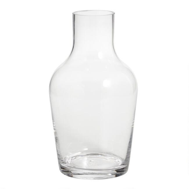 Clear Glass Straight Neck Contemporary Vase