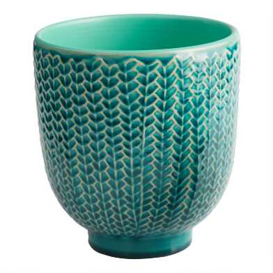 Turquoise Reactive Glaze Ceramic Planter