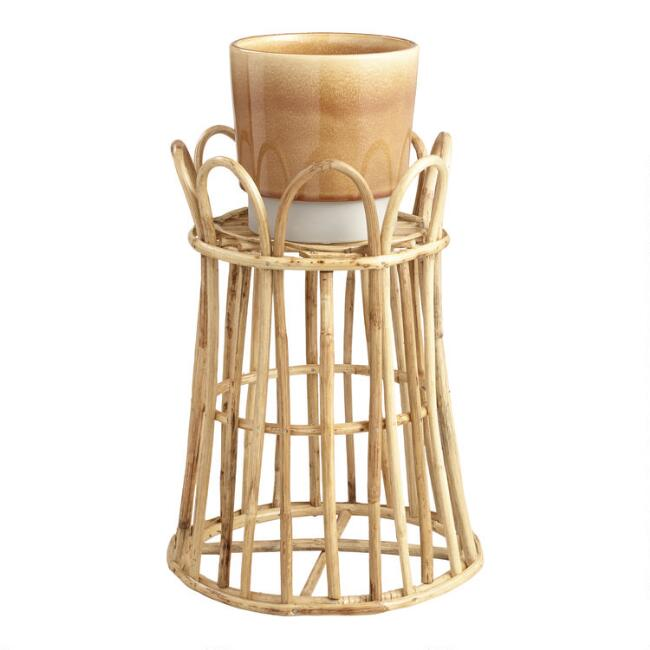Natural Rattan Cane Planter Stand by World Market