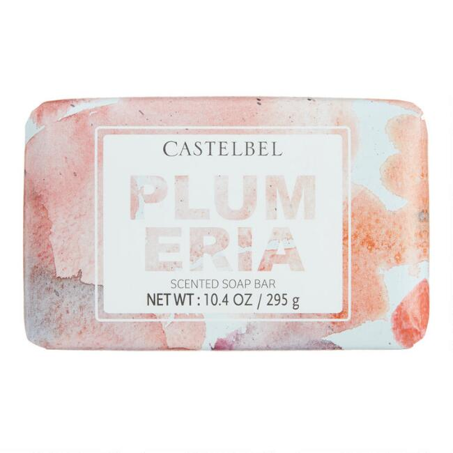Castelbel Watercolor Spatter Plumeria Bar Soap